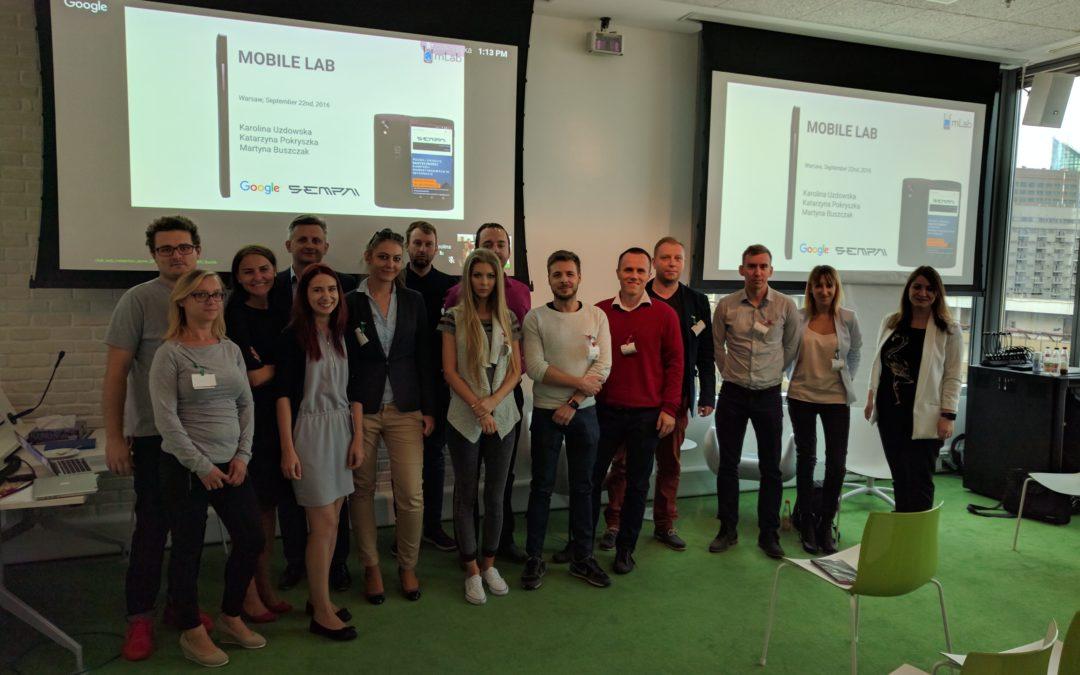 Podsumowanie warsztatów mLab współorganizowanych z Google