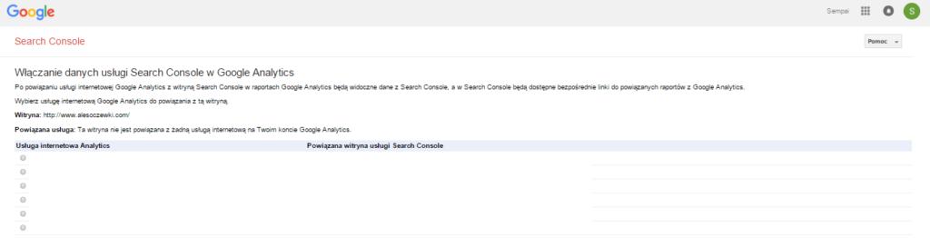 Jak połączyć Google Search Console z Google Analytics?