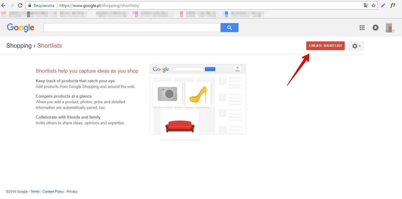 Shortlists Google Shopping 1