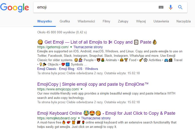 emoji-wyszukiwarka