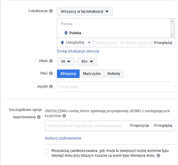 optymalizacja reklam na facebooku 3