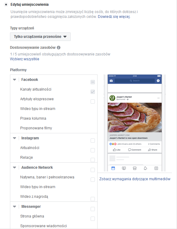 optymalizacja reklam na facebooku 5