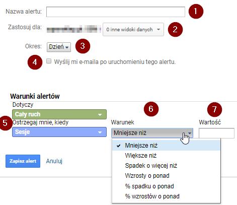 alerty niestandardowe Google Analytics 4