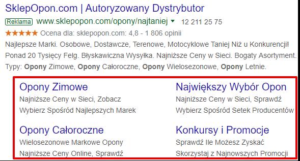 rozszerzenia reklam google ads