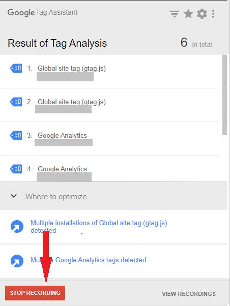 Nagrywanie w Google Tag Assistant