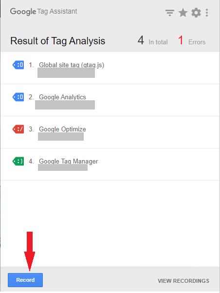 Wtyczka Google Tag Assistnant
