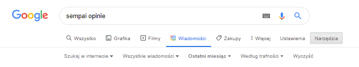 opinie w google