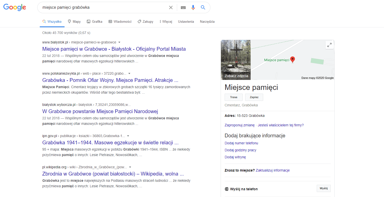 google moja firma pozycjonowanie 2