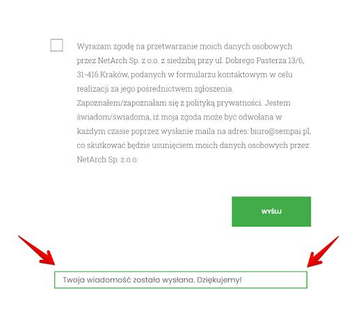 checklista CRO - formularz kontaktowy