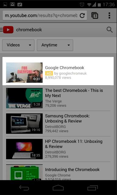 Metody kierowania reklam na YouTube - Discovery mobile