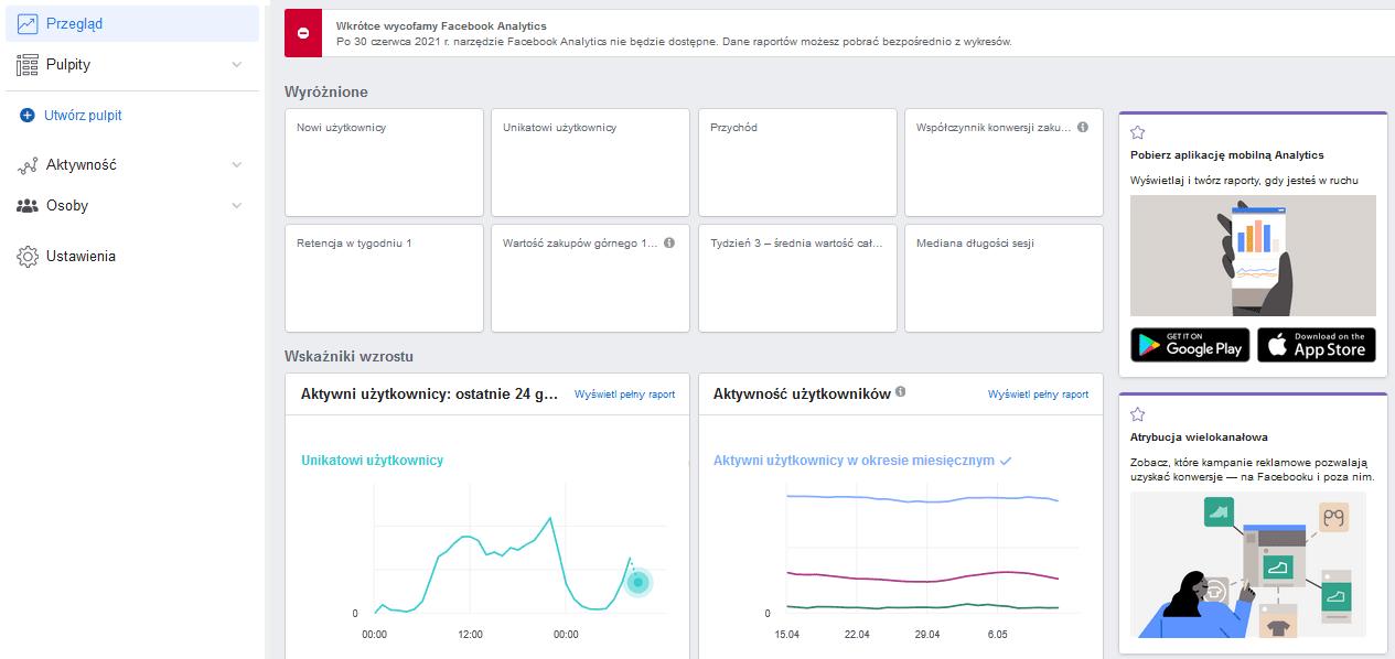 Analityka od Facebooka - nadchodzą duże zmiany - analytics