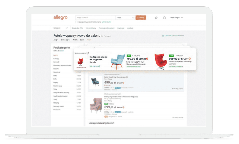 Allegro Ads reklama graficzna