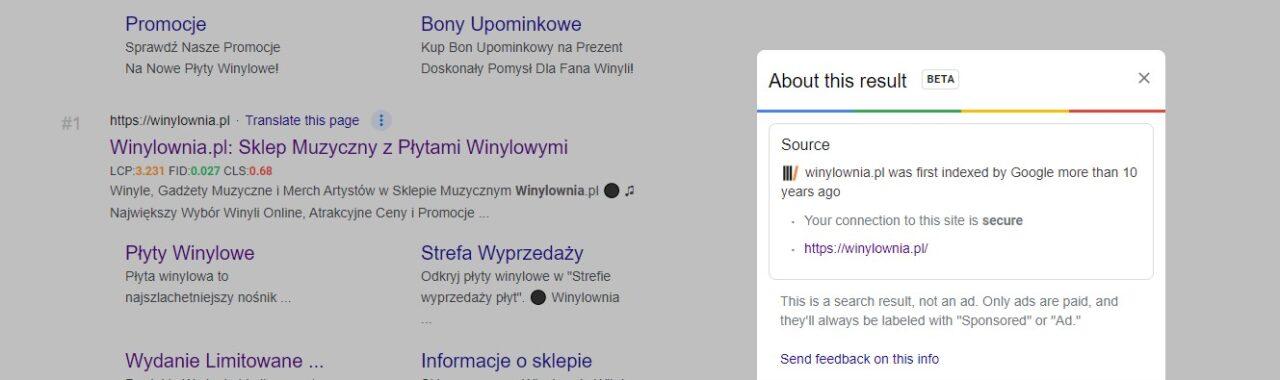 google - wynik SERP