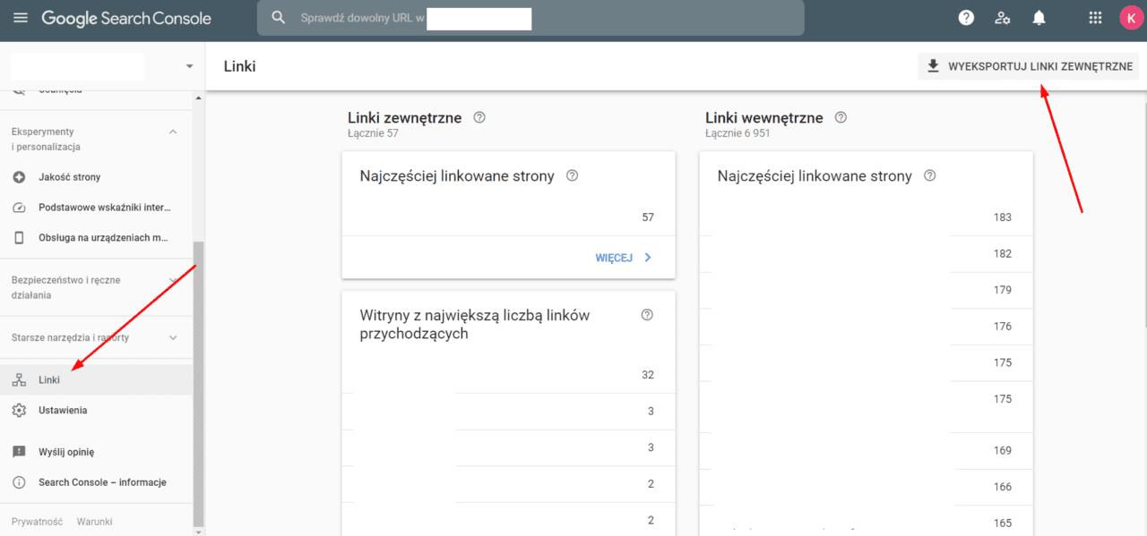 Google Search Console - sprawdzanie toksycznych linków