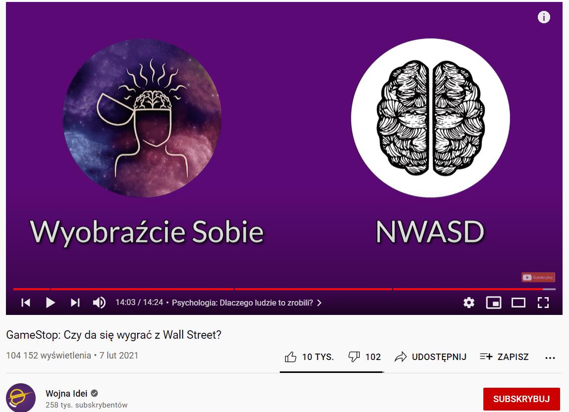 przykłąd współpracy na youtube